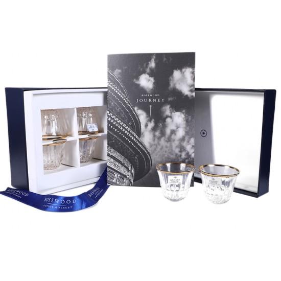 Crystal Kahwa Cups and Brochure Set