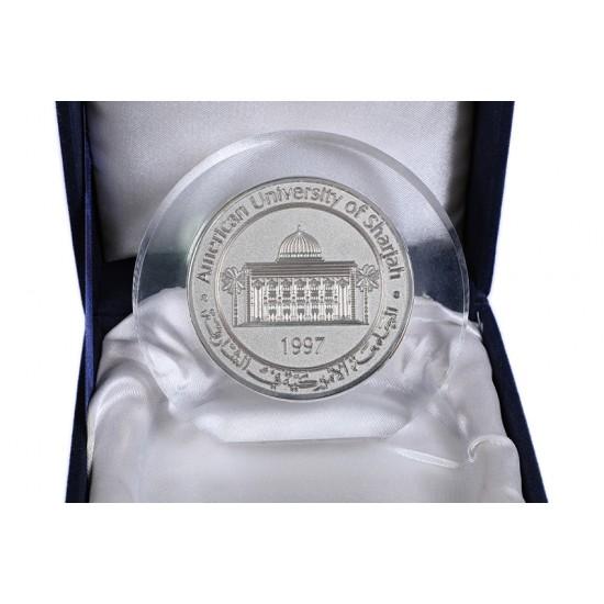 Crystal Medallion with Velvet Box