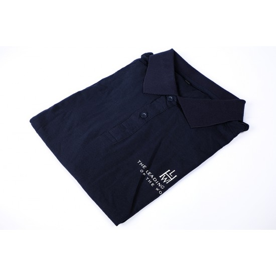High End Polo Shirt with Printed Logo Embroidery